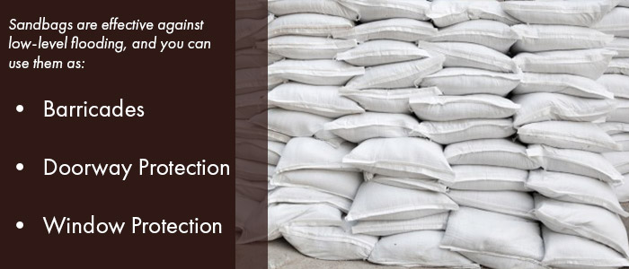 sandbags are effective against low-level flooding