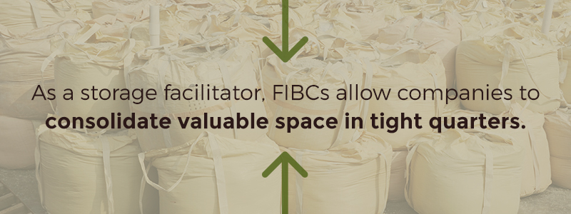 consolidate space with FIBCs